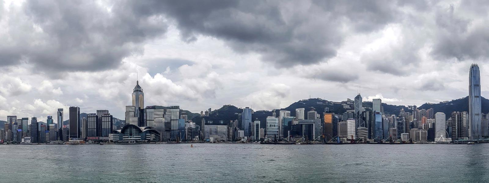 The City of Hong Kong Skyline