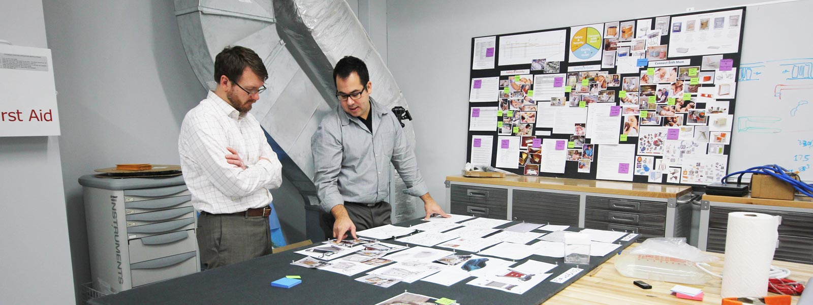 Bryce Porter Reviewing Design Concepts